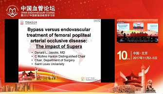Bypass versus endovascular treatmen of femoral popliteal arterial occlusive disease:The impact of Supera(Donald.Jacobs)