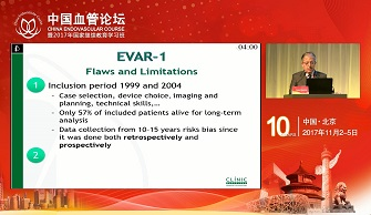 Long-Term data of randomized trials are punishing EVAR:How we can justify EVAR as a first option nowadays(Vincent Riambau)